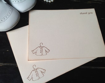 Gender Neutral Note Cards-Baby Thank You Note Cards-set of 10
