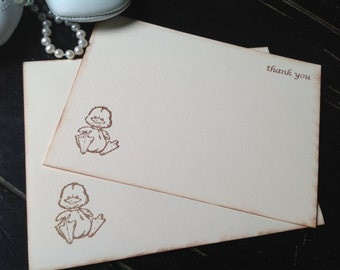 Duck Thank You Cards-Thank You Notes for New Baby and Children-Set of 10