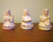 Vintage 1950's Japan Spaghetti Angel Figurines