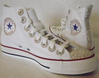 Rhinestone Bling Chuck Taylor All Star High Top Converse Shoes