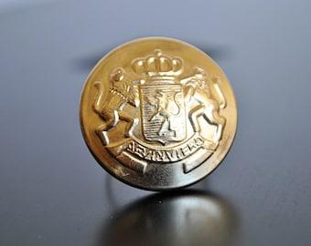 ADJUSTABLE vintage GOLD COIN ring