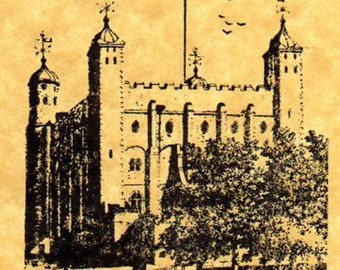 Tower of London Rubber Stamp