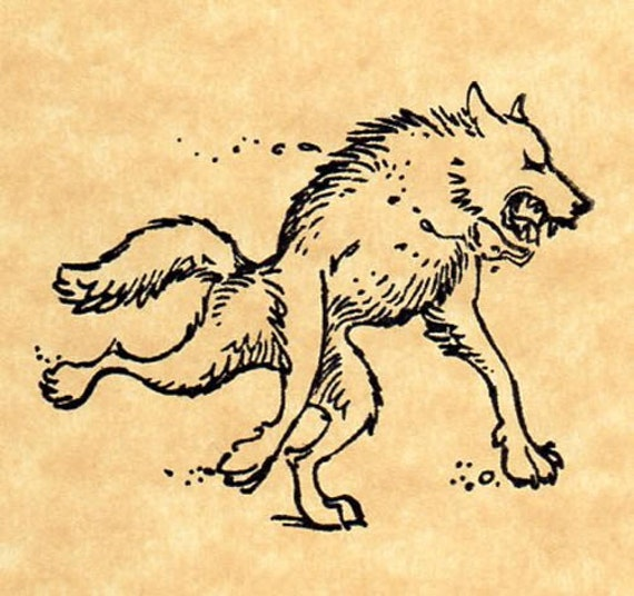 Werewolf rubber stamp by buttersidedownstamps on etsy Which side does a stamp go on