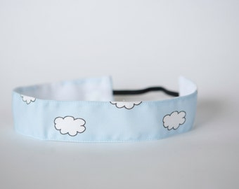 """No Slip Headband Head in the Clouds Spoonflower Fabric 1.5"""""""