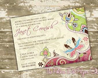 Wedding Invitation / Print Your Own / DIY / South Asian Invitation / Indian Invitation