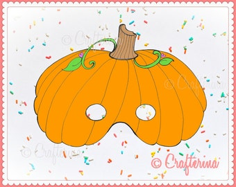 Pumpkin PDF Halloween Mask - Printable - DIY Craft Kit - Party Favor- Child Toy - Play & Pretend