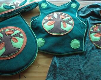 Woodland Prince Knight Breastplate, Felt Breastplate, Kid Costume