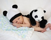 Panda Baby Costume, Hat With Ears, White Bear Hat, Newborn Bear Prop, Little One, Bear Beanie, Baby Boy Crochet, Toddler Girl, Infant Hat