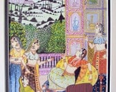 Antique India India antique India India art Indian art Indian princess Maharani painting