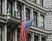 American Flag Photographs - New York City Photography - Architectural Photos - 11x14