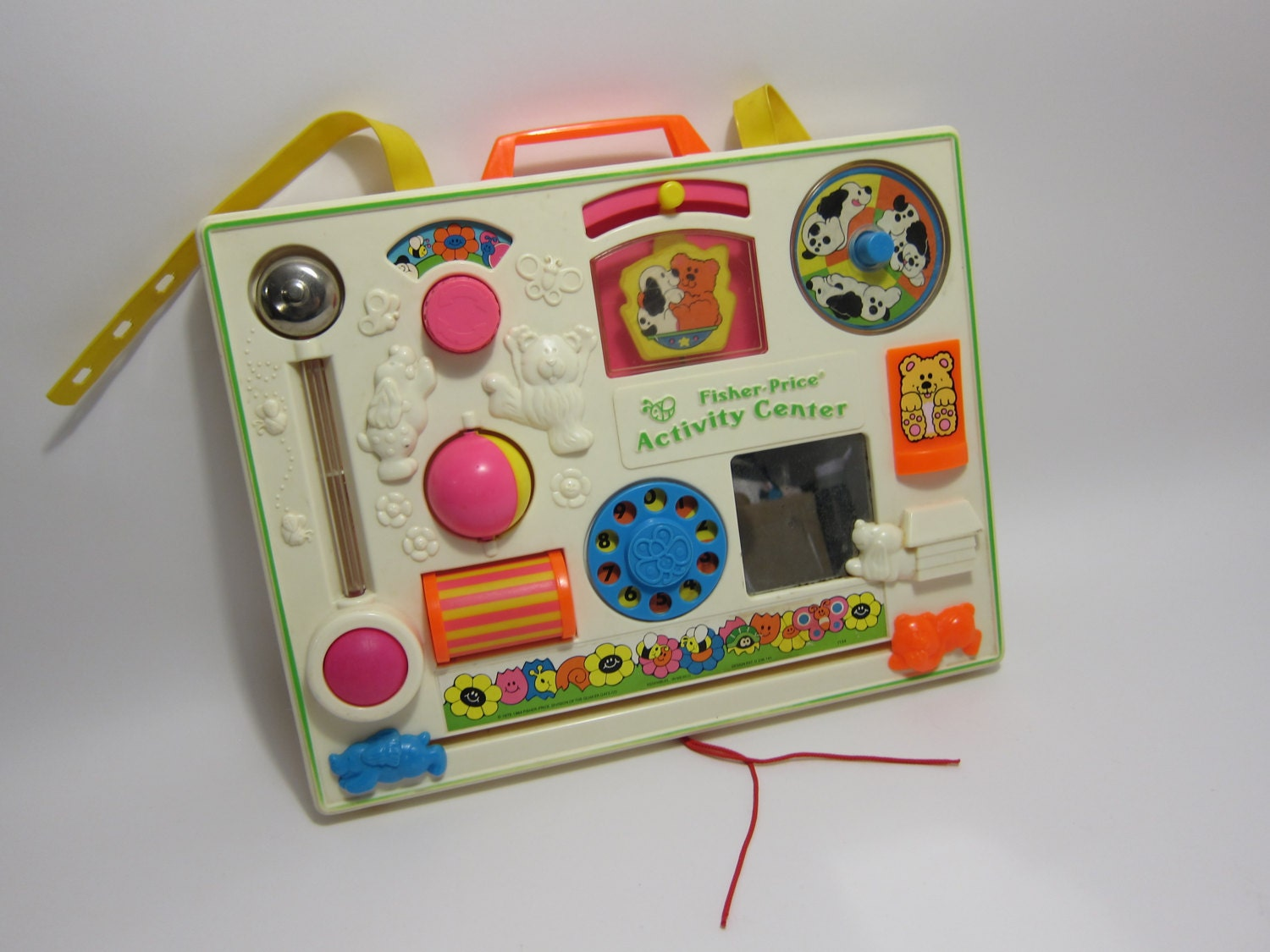 vintage fisher price activity center busy box baby play center. Black Bedroom Furniture Sets. Home Design Ideas