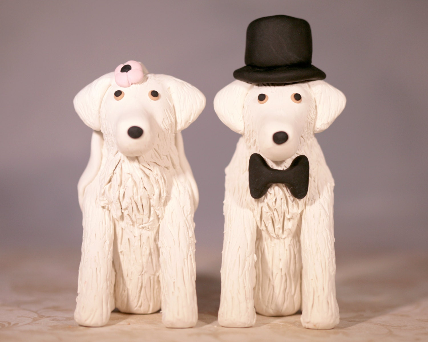 Great Pyrenees Dog Wedding Cake Topper by cockTHEshutter