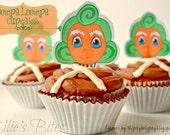 Oompa Loompa Cupcake Toppers
