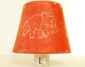 Elephant Night Light - Gender Neutral Nursery Decor - Orange Elephant Nursery Decor - Baby Nightlight - Decorative Night Lights - TheOrangeChairStudio