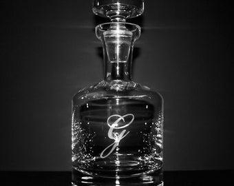 Monogrammed Buckingham Whiskey Decanter - Groomsmen Gifts