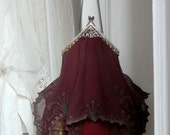 RESERVED Romantic Wedding-Bridal Purse VICTORIAN Antique clasp Edwardian one-off Bohemian Chiffon Handbag Antique Lace Linen. Collectors.