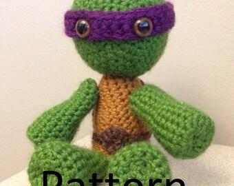 Teenage Mutant Ninja Turtle (TMNT) Crochet Plush Pattern