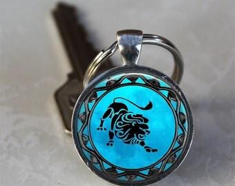 Leo Zodiac Key chain, Leo Astrology Key chain, Leo Horoscope Key chain (GDKC0318)