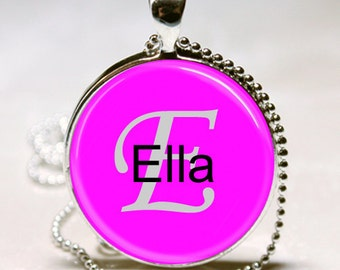 Ella Name Pendant Name Monogram Handcrafted  Necklace Pendant (NPD1421)