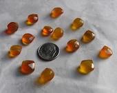 Chalcedony Gemstones Honey Faceted Hearts