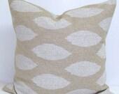 TAN EURO PILLOW.24x24 inch.Pillow Covers.Decorative Pillows.Housewares.Light Brown..Burlap Like.Ikat.Neutral.Cushion.Large.Tan.Taupe.Khaki