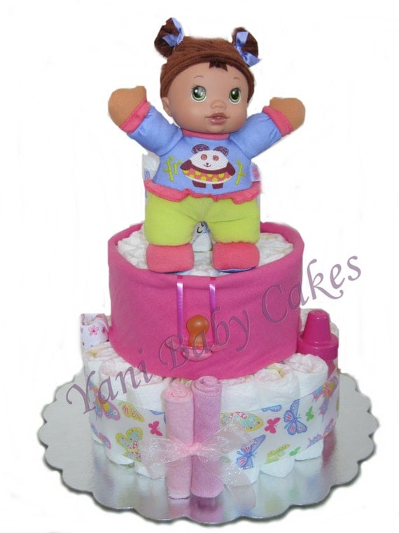 Baby Shower Cakes For Sale ~ Sale baby girl diaper cake shower centerpiece
