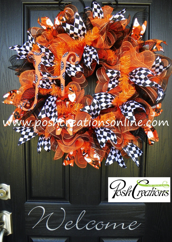 Fall Wreath Halloween Wreath Mesh Wreath Burlap Wreath