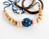 Milky Way Nursing Necklace / Teething Necklace - Galaxy, Stars, Universe, space jewelry for moms to wear