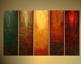 """Modern 60"""" x 36"""" Original Abstract Painting Acrylic Textured Painting on Canvas by Osnat Tzadok Coloful - MADE-TO-ORDER"""