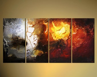 """Modern Painting, Original Abstract Art on Canvas by Osnat - MADE-TO-ORDER - 60""""x30"""""""