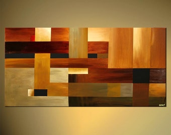 """48"""" x 24"""" Contemporary Original Abstract Painting Geometric Abstract by Osnat - MADE-TO-ORDER - 48""""x24"""""""