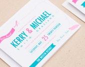 Destination Wedding Invitation - Printed - Printables - DIY Print at Home