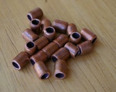 15 Hand Made Pure Real Copper Large Hole Spacer Beads Recycled Repurposed Copper Tubing