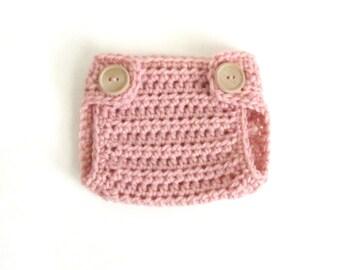Pink Diaper Cover / Newborn Diaper Cover / Diaper Cover for Newborns / Custom Colors Welcome / Newborn Photo Prop