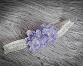 Lavender Love Chiffon Flower Headband - Photography Prop - newborn, baby, child, adult - birthday, wedding, flower girl, summer