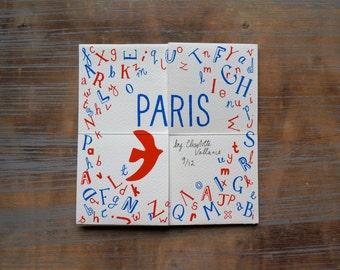 Amazing folding Paris book