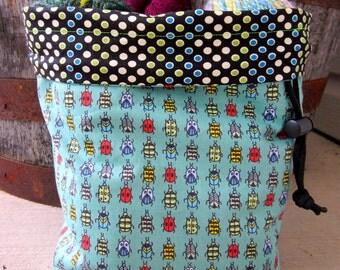 Creepy Crawlies Knitting Project Bag - Phat Fiber