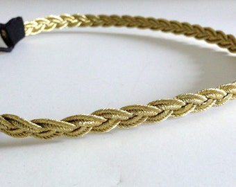 Gold Braided Single Strand Headband