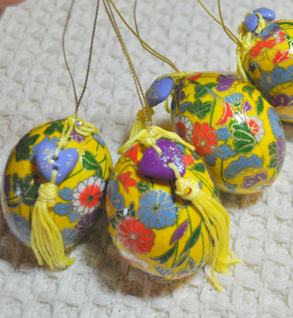 Washi Wrapped Egg Ornament Perfect For Easter Christmas Or