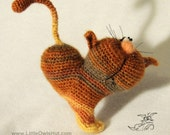 Cat heart ValentinCat.  Amigurumi Crochet Pattern. PDF file Valintine's day (instant download) by Pertseva