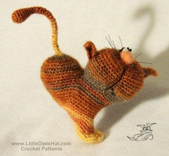 028 Cat heart ValentinCat. Amigurumi Crochet Pattern. PDF file Valintine's day by Pertseva Etsy