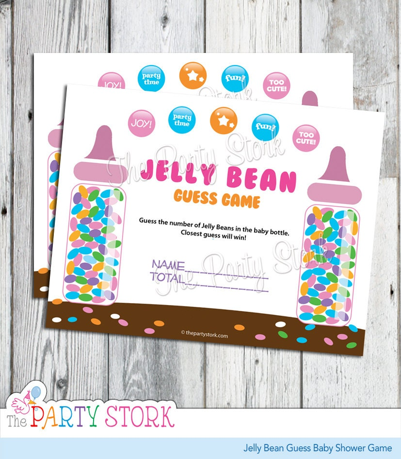 Baby Shower Games: Candy Guessing Game Jelly Bean Guess Baby Shower Game