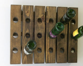 Riddling Rack Wood Antique Style Wine Rack