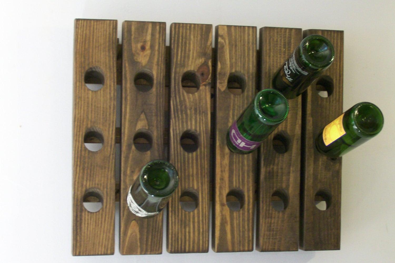 Riddling rack wood antique style wine rack for Old wine rack