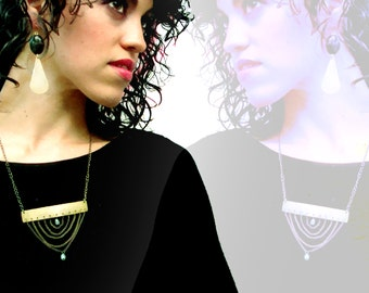 Layered Lady Necklace || Metalwork Jewelry || Delicate || Chain Drop || Chest Piece || Dangle