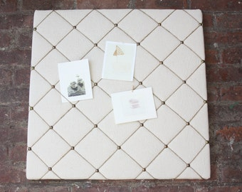 2x2 VINTAGE linen & twine bulletin/memo board