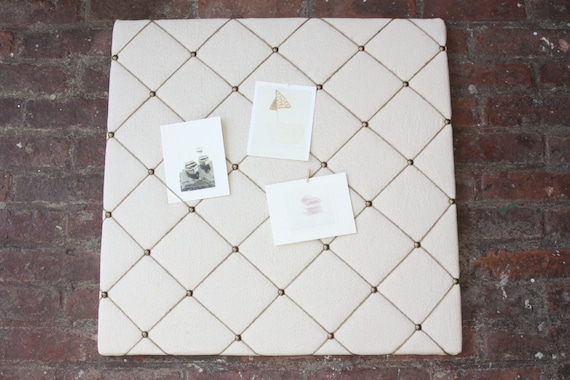 2x2 vintage linen twine bulletin memo board for Linen cork board