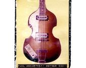 Beatles gift idea- McCartney bass art print, music wall decor, musicians gift, gift for guy, gift for boyfriend, hipster, rock n roll art