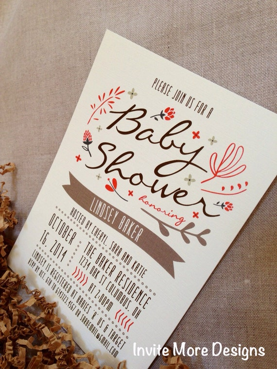 to diy fall baby shower invitation fall floral baby shower invitation