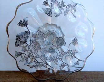 Vintage Glass Cake or Cup Cake Stand